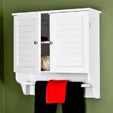 Shutter Door Cabinet Shutter Door White Bathroom Wall Cabinet With Tower Bar Global
