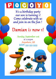 pocoyo halloween pocoyo birthday party invitations partyexpressinvitations