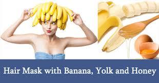 banana hair benefits of banana hair mask with honey yolk avocado yogurt