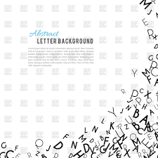 abstract black alphabet ornament background vector clipart image