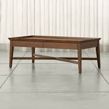 Sofa Table With Drawers Bradley Walnut Coffee Table With Drawers Crate And Barrel