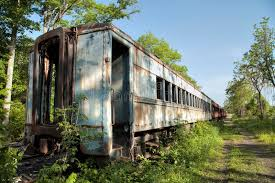 Pennsylvania vegetaion images Abandoned vintage train car editorial stock image image 54563874 jpg