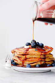 Blueberry Pancake Recipe Blueberry Rye Pancakes With Molasses Syrup A Beautiful Plate