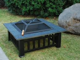 Bbq Firepit Square Pit Grill Popular Outdoor Pits Portable Heavy