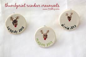 thumbprint reindeer note cards gift tags ornaments