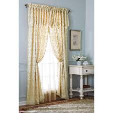 Semi Sheer Curtains Coffee Tables Semi Sheer Curtains With Attached Valance