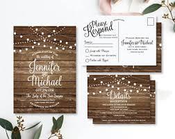 Country Chic Wedding Invitations Rustic Wedding Invitation Etsy Ca