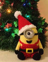 santa minion pdf pattern crochet for amigurumi doll plush