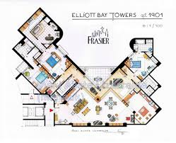 floorplan com frasier crane s apartment floorplan from frasier