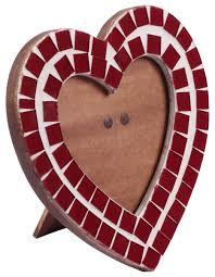 4x4 heart shaped picture frame in bulk wholesale handmade