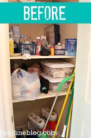 ten june guest bathroom closet organization makeover
