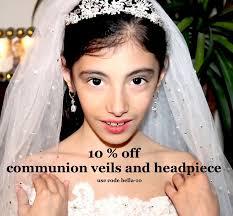 communion headpiece headpieces communion veils communion tiara