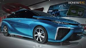 hydrogen fuel cell car toyota toyota fuel cell a car to win the environment techdrive