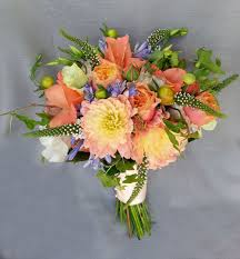 wedding flowers calgary coral blue white calgary wedding flowers bridal bouquet