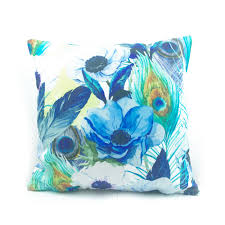 Peacock Decorations For Home Compare Prices On Peacock Blue Throw Pillow Cases Online Shopping