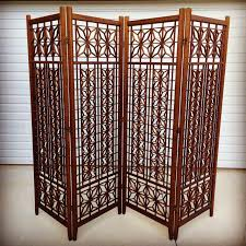 Wooden Room Divider Geometric Wood Room Divider Screen Chairish