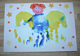 Inside The Wendy House Hand Print Angel Christmas Cards
