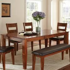steve silver go400tk mango dining table in medium brown cherry