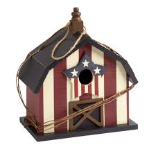 12 u201d patriotic wood barn birdhouse christmas tree shops andthat