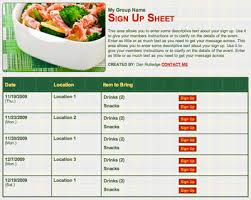 organizing a meal sign up for a family in need