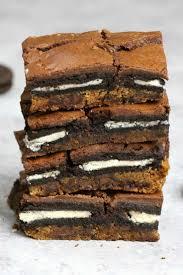 oreo stuffed cookie brownie bars tipbuzz