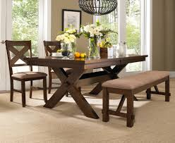 powell 4 piece kraven dining room set in dark hazelnut beyond stores