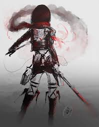 attack on titan mikasa as strong as 100 men by lllannah