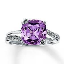 amethyst engagement rings jared pink amethyst ring 1 15 ct tw diamonds 14k white gold