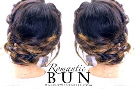 romantic braided updo prom wedding everyday hairstyle