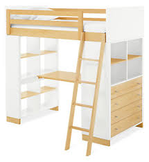 moda kids u0027 wood loft with desk u0026 dresser modern bunks u0026 lofts