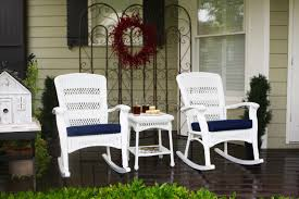 Resin Wicker Rocking Chair The Portside Plantation All Weather Wicker Rocking Chair Set