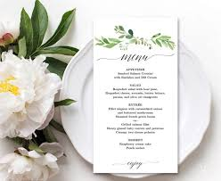 templates wedding menu template etsy in conjunction with bridal