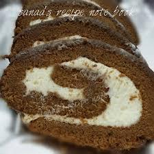 chocolate swiss roll with cream cheese filling sanaa u0027s recipe