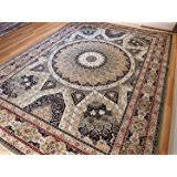 amazon com silk ivory rugs persian tabriz rug 7x10 living room