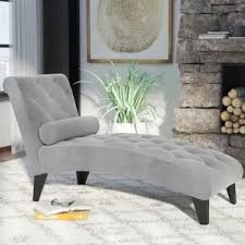 Upholstered Chaise Lounge Cotton Chaise Lounge Chairs You U0027ll Love Wayfair