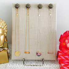 necklace holder diy images Easy diy jewelry organizer tutorial hello nutritarian jpg