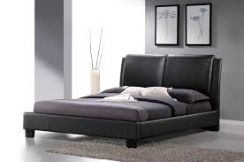 Black Platform Bed Queen Baxton Studio Sabrina Black Modern Bed With Overstuffed Headboard