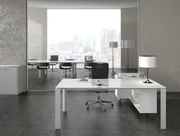 Contemporary Office Desk by Desk The Most White Modern Executive Left Return With Concerning