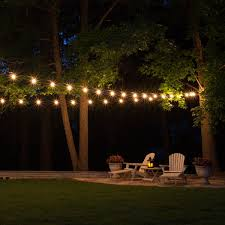 hanging outdoor string lights backyard string lights home ideas for everyone elegant outdoor
