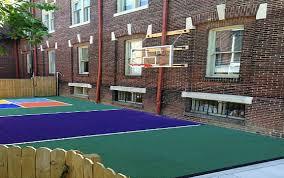 Backyard Basketball Half Court Family Sport Court Virginia Sport Court Of Virginia