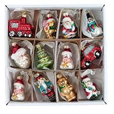 Mini Glass Christmas Tree Decorations by Set Of 12 Mini Glass Hanging Christmas Tree Decorations By Gisela