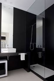 black and bathroom ideas stylish black bathroom design with simply shower room design ideas