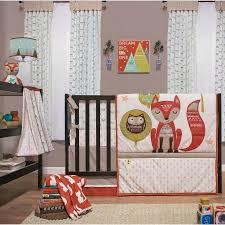 Nursery Bedding Set Clever Fox Crib Bedding Set Woodland Creatures