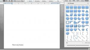 how to change the color of the bar in a footer in microsoft word