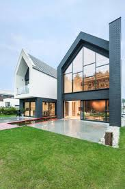 modern home of several geometric structures digsdigs