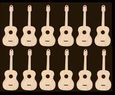 12 guitar ornaments 3 inches craft by texasartcraft