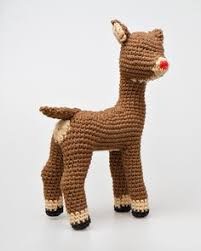 rudolph red nosed reindeer crochet bouncing bumbles