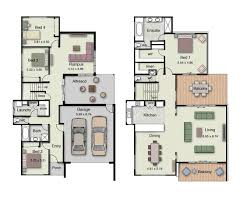 duplex small house design floor plans with 3 and 4 bedrooms