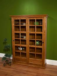 Bookcase With Door by Farmside Wood Sliding Door Bookcase Amish Solid Oak Furniture
