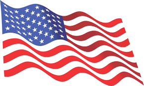 Backwards Us Flag 8in X 5in Inside Adhesive Waving American Flag Sticker